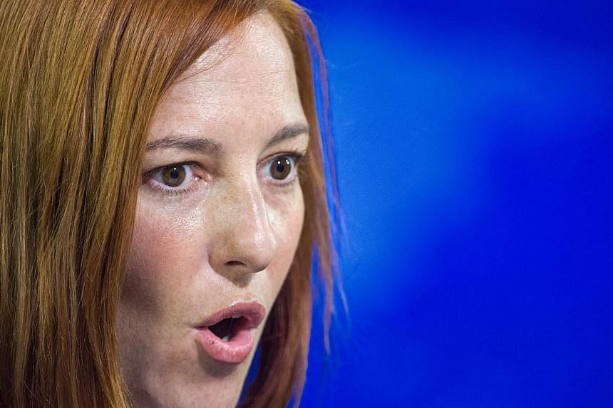 """US State Department spokeswoman Jen Psaki (above, in a file photo) said on Thursday that steps had been taken """"to allow for the future transfer of maritime security-related defence articles to Vietnam"""". -- PHOTO: AFP"""