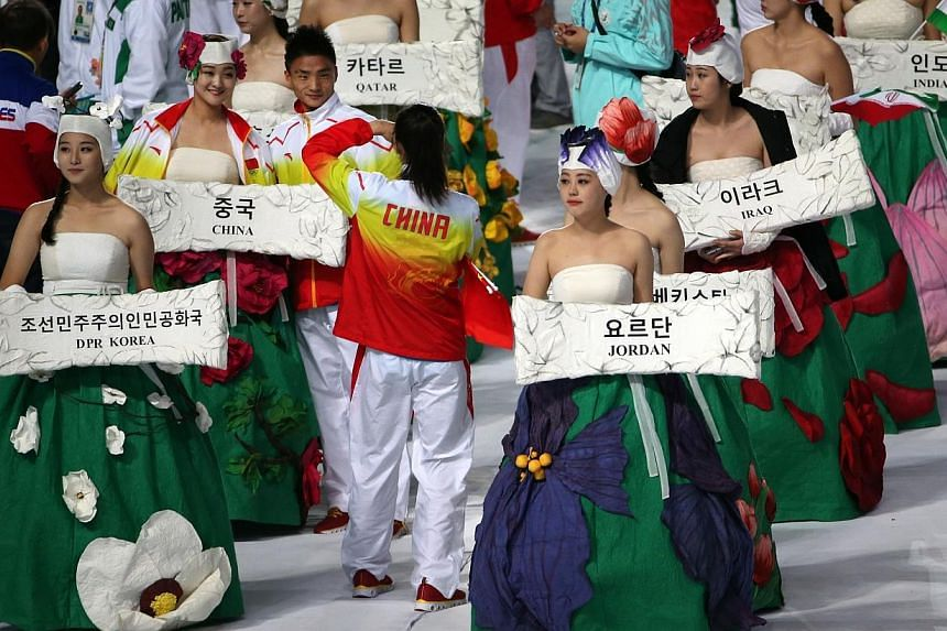The Asian Games closing ceremony at the Incheon Asiad Main Stadium on Oct 4, 2014. -- ST PHOTO: NEO XIAOBIN