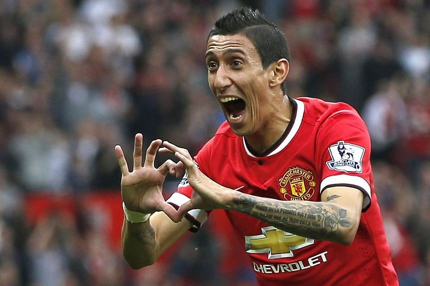Manchester United's record signing Angel di Maria has revealed that he is relishing the physicality of the Premier League and believes he is already clicking with his new team-mates. -- PHOTO: REUTERS