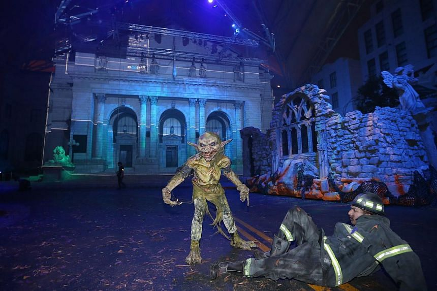Media preview of Halloween Horror Nights 4 at Universal Studios Singapore. -- ST PHOTO:ONG WEE JIN