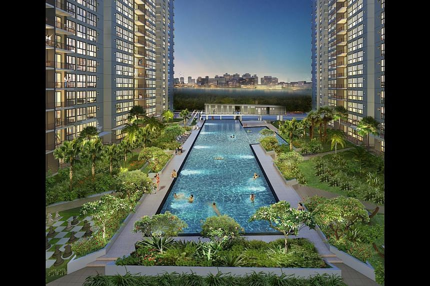 SLOWDOWN: Bellewoods (left) and Lake Life are among the first ECs to go on the market after a dearth of launches. An MND rule introduced last year has made it compulsory for EC developers to wait for 15 months before launching a project for sale.