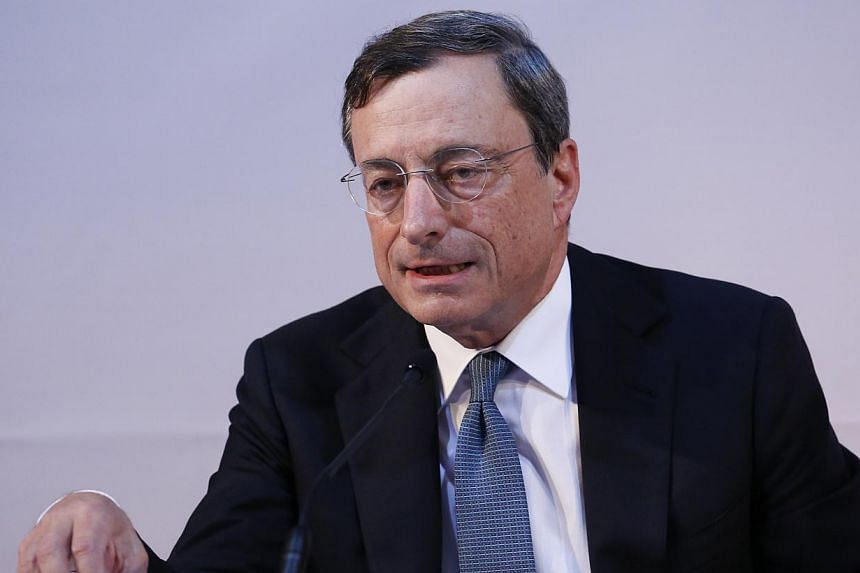 """A leading member of German Chancellor Angela Merkel's Bavarian sister party criticised European Central Bank chief Mario Draghi (pictured) on Saturday, saying he was turning the institute into a """"junk bank"""" with his plans to buy debt rated as junk. -"""