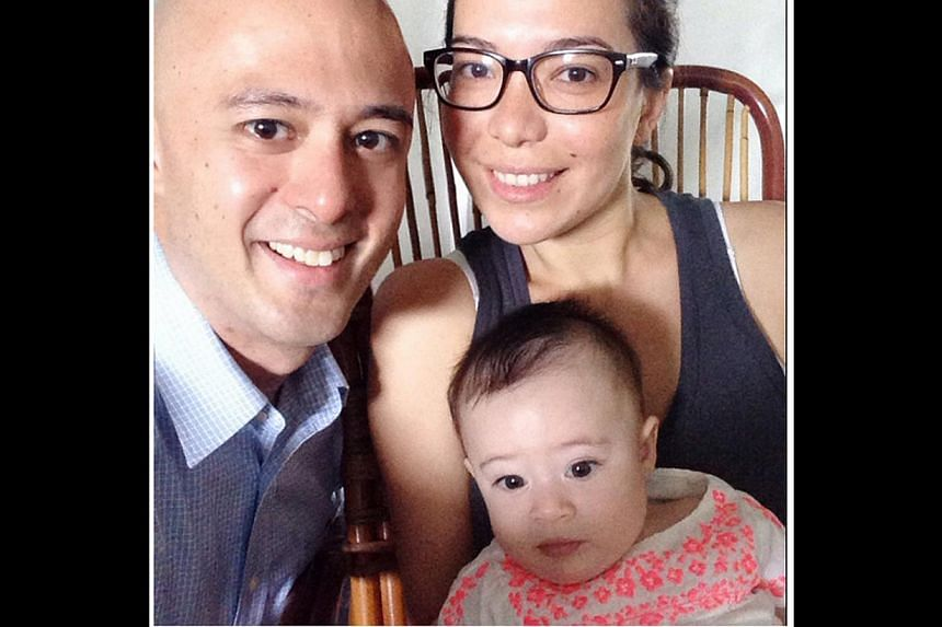 Mr Graham Ong-Webb (above), political risk consultant, with his wife Emmanuelle Chiau and daughter Saskia. -- PHOTO: COURTESY OF GRAHAM ONG-WEBB