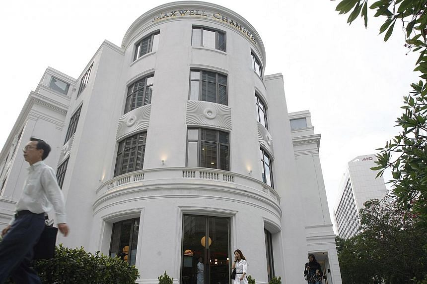 The new court is part of a wider plan to position Singapore as Asia's dispute resolution hub, which includes the Singapore International Arbitration Centre - located at Maxwell Chambers (above) - and a new Singapore International Mediation Centre to