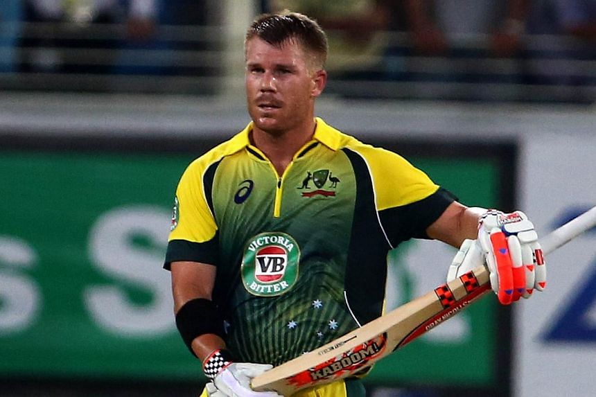 Three debutant bowlers and a typically rampaging innings from David Warner helped Australia coast to a six-wicket victory over Pakistan in their sole Twenty20 international in Dubai on Sunday. -- PHOTO: AFP