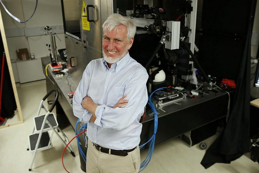 Professor John O'Keefe poses in his laboratory at University College London (UCL), in London Oct 6, 2014. -- PHOTO: REUTERS