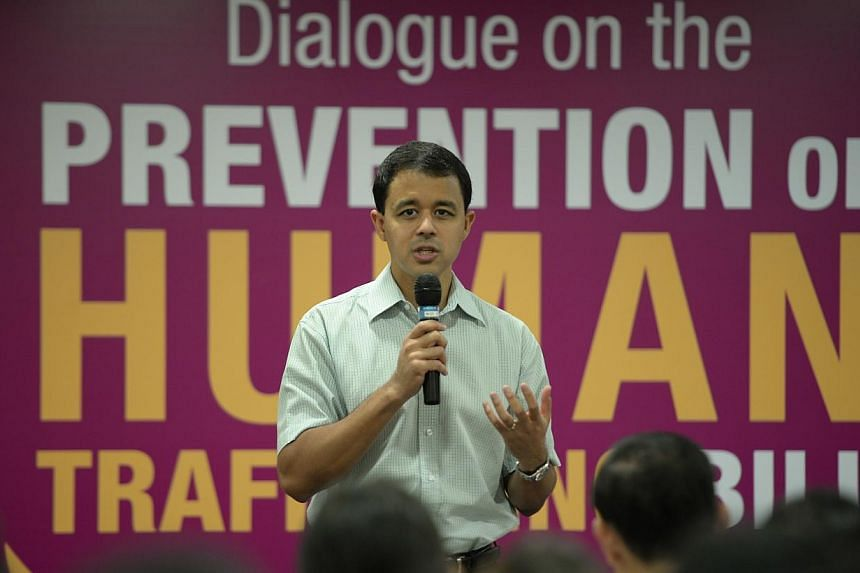 Holland-Bukit Timah GRC MP Christopher De Souza gives his opening address before the start of the Dialogue on the Prevention of Human Trafficking Bill held at the Ministry of Communications and Information on March 19, 2014.A PROPOSAL for a new