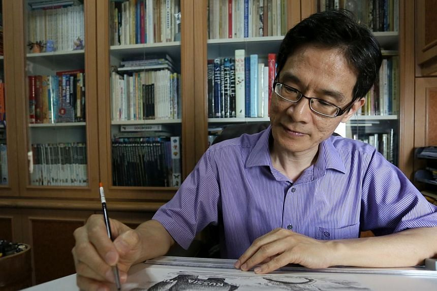 Singaporean cartoonist Heng Kim Song was thrust in the spotlight recently when one of his cartoons published in The New York Times in September was slammed for being allegedly racist. -- PHOTO:COURTESY OF HENG KIM SONG