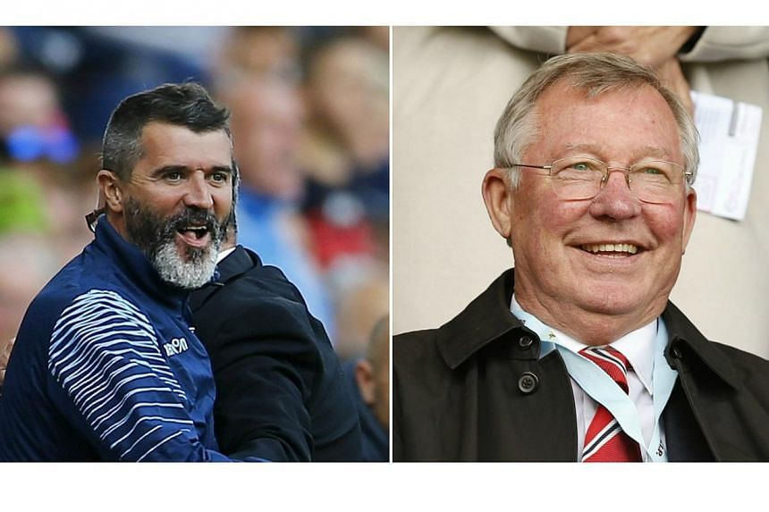Former Manchester United captain Roy Keane (left) gives a no-holds-barred account of his time at Old Trafford,especially when striking back at former manager Sir Alex Ferguson. -- PHOTO: REUTERS