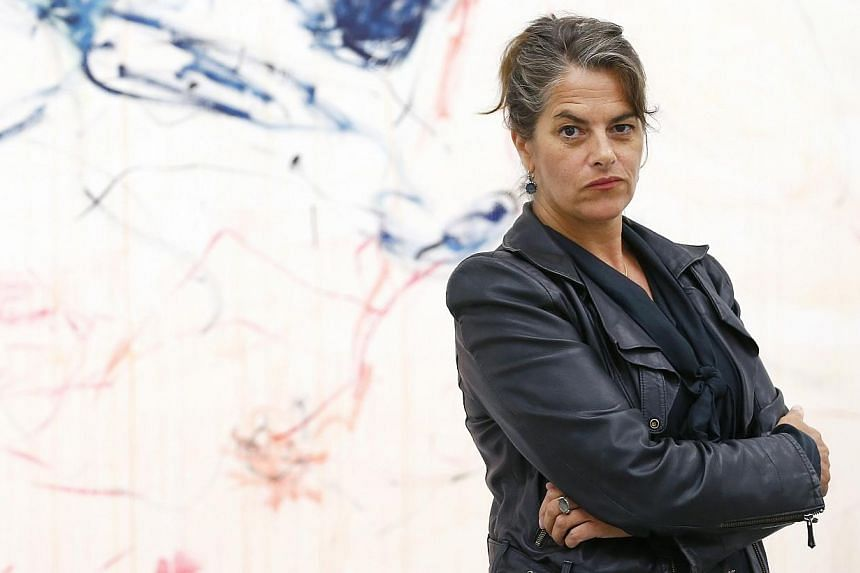 British artist Tracey Emin explores middle age in her new exhibition, entitled The Last Great Adventure Is You, opening on Wednesday. -- PHOTO: REUTERS