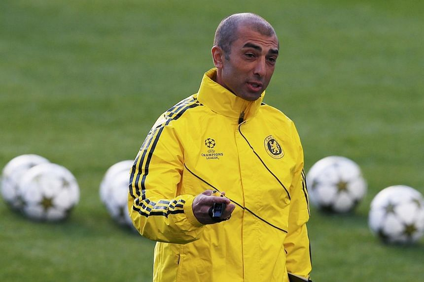 Chelsea manager Roberto Di Matteo attending a training session at Stamford Bridge in London on Sept 18, 2012.Schalke 04 have appointed Di Matteo as a replacement for Jens Keller, who was sacked earlier on Tuesday after an inconsistent start to
