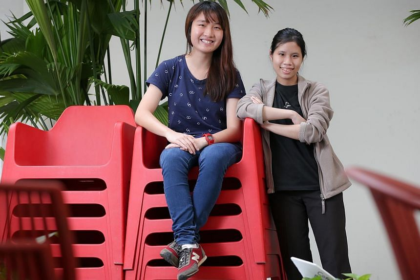 SUTD undergraduates Lee Sue-Ann (left) and Ann Wee have done two internships.
