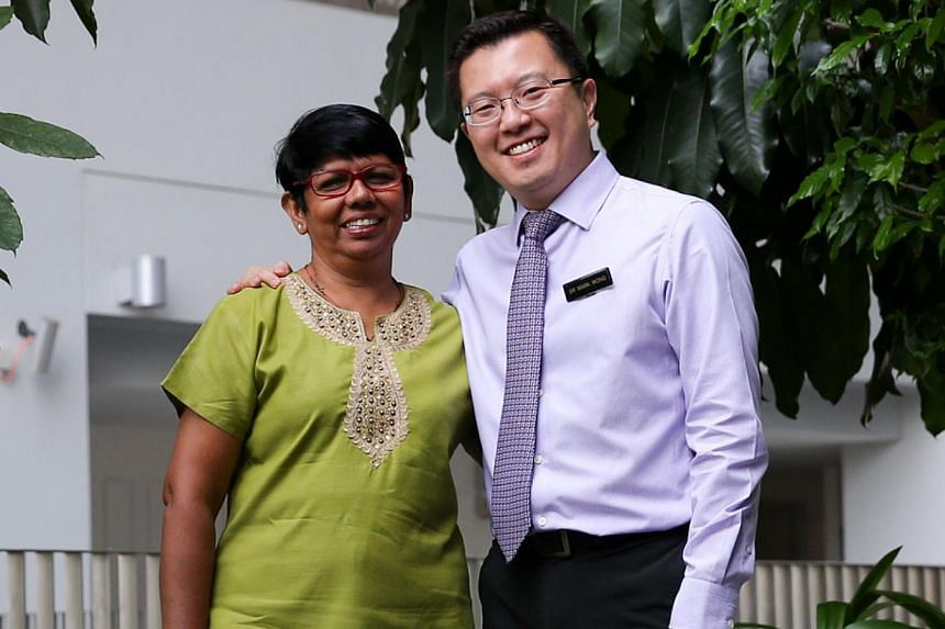 Dr Mark Wong with Madam Matilda Miranda, who had to quit her supermarket job because of continence issues. She no longer has to deal with them after undergoing surgery. Sometimes all you need is a change in dietary habits, says Dr Wong.