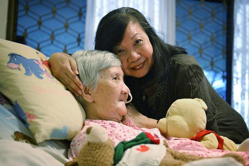 Ms Rose Kong is able to take care of her 88-year-old mother at home with support from the National University Hospital. When she is unsure of what to do, she can call a senior staff nurse for advice.