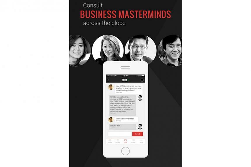 Screengrab of DBS BusinessClass app. -- PHOTO: ITUNES