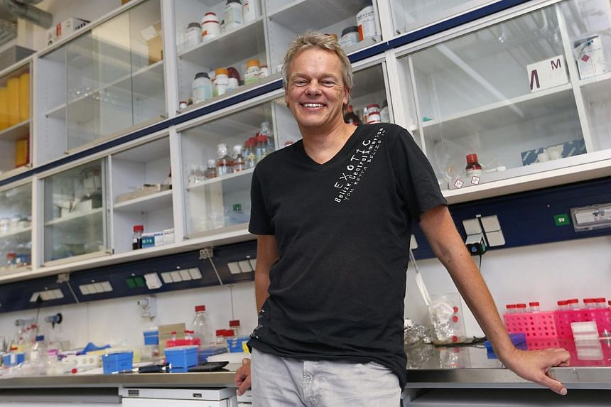 Scientist Edvard Moser of Norway poses inside Max Planck Institute Martinsried of Biochemistry and Neurobiology in Munich, on Oct 6, 2014. -- PHOTO: REUTERS