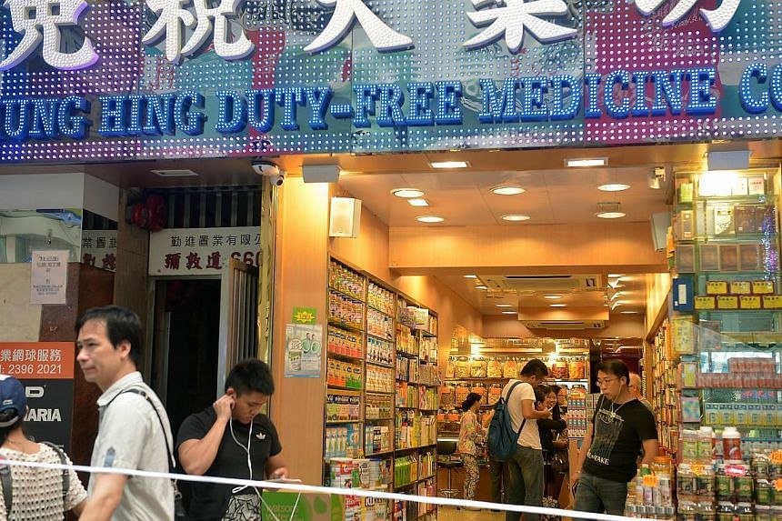 Shops near the main protest site in Mong Kok feeling the strain of the protests thus far as business is badly affected. -- ST PHOTO: KUA CHEE SIONG