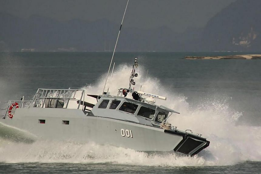 This undated handout photo released by the Royal Malaysian Navy on Oct 6, 2014 shows a Navy combat boat, CB 204, setting out for a routine sea patrol in the South China Sea near Mengalum island off eastern Sabah state on Borneo island before it went
