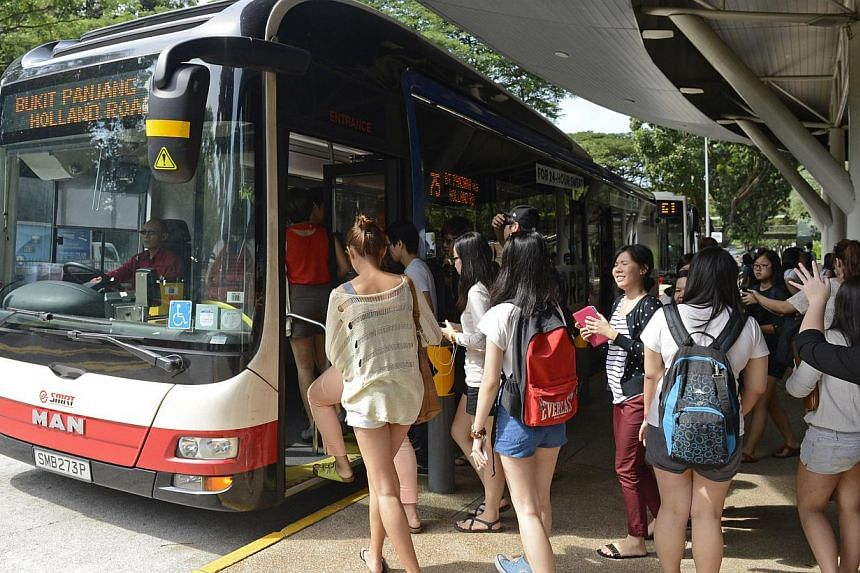 The Bus Service Enhancement Programme (BSEP) was introduced in 2012, with the aim to increase bus capacity and enhance bus service levels through partnership between the Government and bus operators. -- ST PHOTO: DESMOND FOO