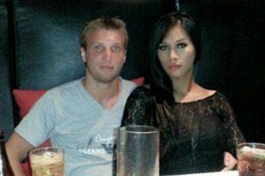 Indonesian transsexual Mayang Prasetyo, 27, and her husband Marcus Peter Volke, 28. -- PHOTO: FACEBOOK