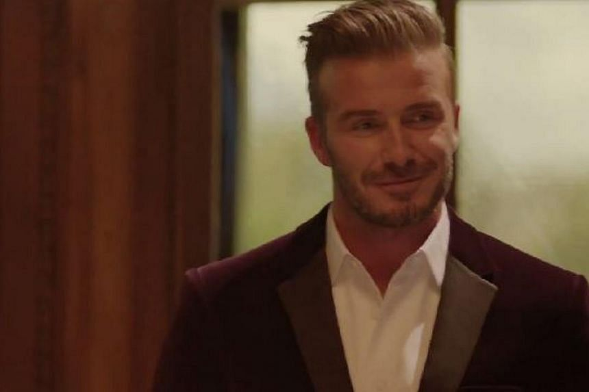 Retired football star David Beckham launched his own whisky label, Haig Club, over the weekend in Scotland. -- PHOTO: HAIG CLUB/YOUTUBE