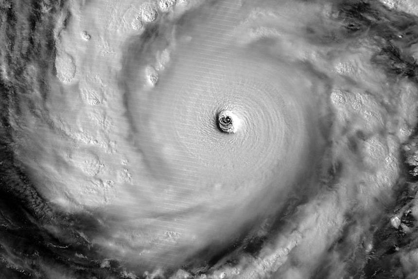 This image of Super Typhoon Vongfong using NASA's Visible Infrared Imaging Radiometer Suite (VIIRS), obtained on Oct 8, 2014 courtesy of NASA, shows the storm illuminated by moonlight. The super typhoon, on course to hit Japan over the weekend, is