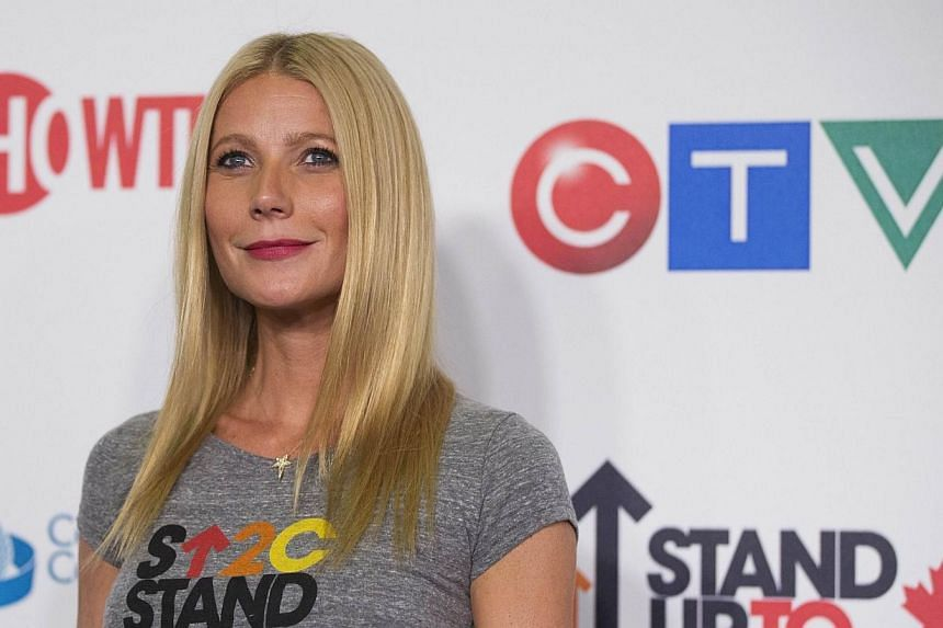 Actress Gwyneth Paltrow arriving for the fourth biennial Stand Up To Cancer fundraising telecast in Hollywood, California on Sept 5, 2014. She has laughed off criticism about her from lifestyle entrepreneur Martha Stewart. -- PHOTO: REUTERS