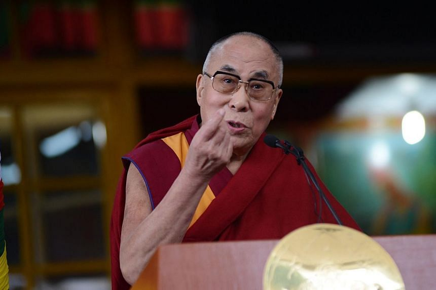 Beijing on Wednesday, Oct 8, 2014, dismissed the possibility of the Dalai Lama's return to Tibet, days after the exiled spiritual leader indicated he was in contact with Chinese officials over a historic pilgrimage. -- PHOTO: AFP