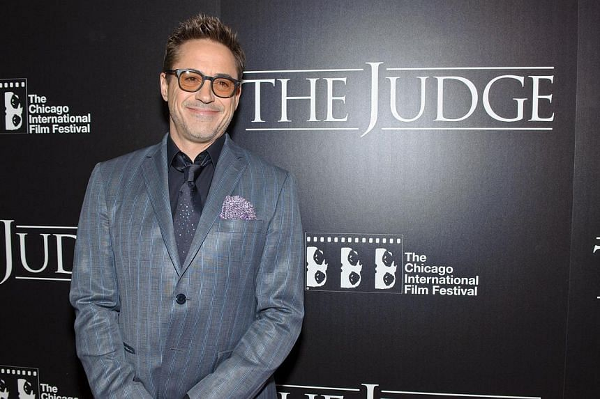 Robert Downey Jr. attends the Chicago premiere of The Judge at AMC River East Theater on Oct 5, 2014 in Chicago, Illinois. The actor is keeping fans guessing whether there is going to be a fourth Iron Man movie, hours after he told Ellen DeGener