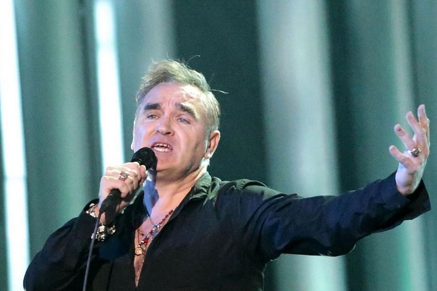 """Singer Morrissey has revealed that he had been treated for cancer. In an e-mail interview in the Spanish newspaper El Mundo, the 55-year-old singer said he had """"cancerous tissue"""" removed four times. -- PHOTO: AFP"""