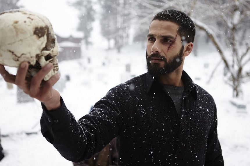 Actor Shahid Kapoor adds a brooding, tortured twist to his role of Haider.