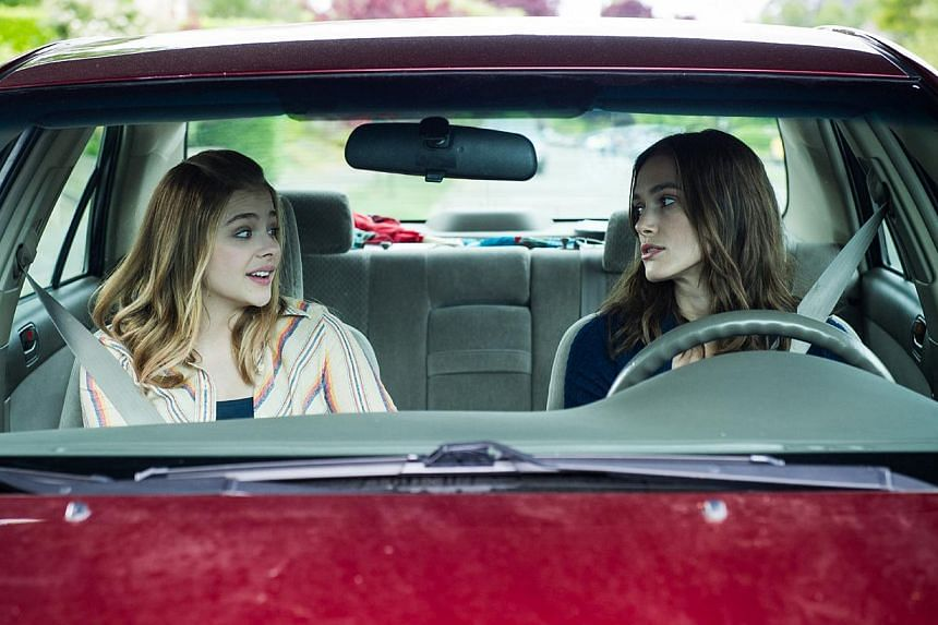 English actress Keira Knightley (right) is perfect as a morose, aimless adult who meets a 16-year-old (Chloe Grace Moretz, left) raised by a single dad in Laggies.