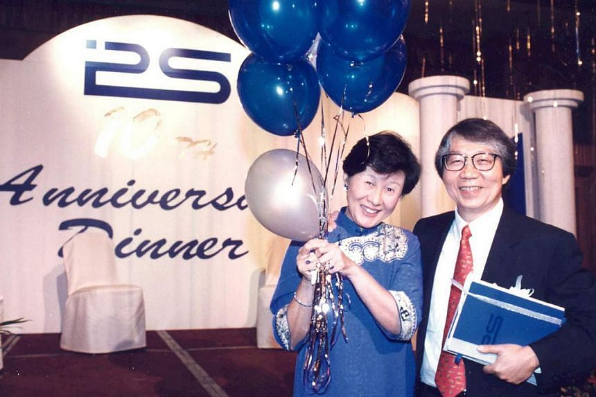Prof Tommy Koh and his wife Siew Aing at the Institute of Policy Studies' fifth anniversary dinner in 1995, when Prof Koh was IPS director.