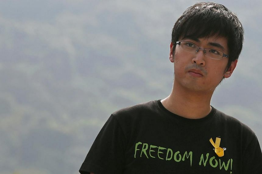 Alex Chow attends a rally at the Chinese University in Hong Kong in this Sept 22, 2014, file photo. -- PHOTO: REUTERS