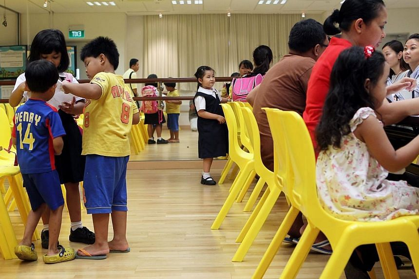 Minister for Social and Family Development Chan Chun Sing announced two new initiatives on Thursday to attract and develop pre-school teachers. -- PHOTO: ST FILE