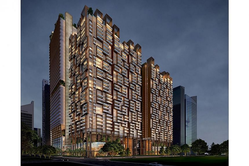 Upcoming project Marina One (artist's impression pictured) has sold at least 205 units to multi-unit buyers so far, developer M+S said on Thursday. -- PHOTO: MARINA ONE