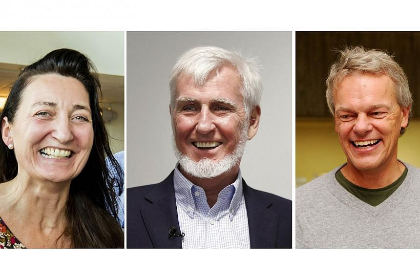 Combo of pictures taken on Oct 6, 2014 of British-American researcher John O'Keefe (centre), Norwegian neuroscientist Edvard Moser (right) and his wife May-Britt Moser (left) just after winning the 2014 Nobel Medicine Prize.Have you ever wonder
