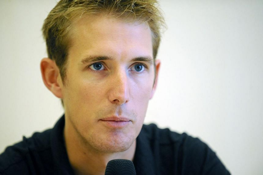 Luxembourg's Andy Schleck called time on his short cycling career on Thursday, Oct 9, 2014, forced to retire at 29 by a knee injury suffered in the Tour de France this year. -- PHOTO: AFP