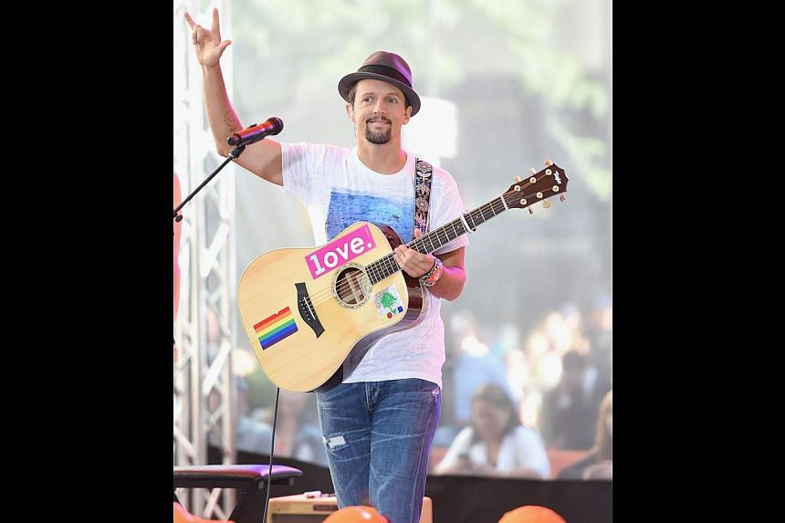 Jason Mraz says he gets a good vibe from Asian audiences. -- PHOTO: AGENCE FRANCE-PRESSE