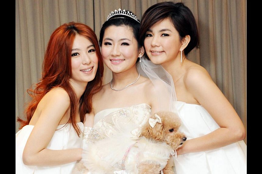 Marriage news from singers such as (from far right) S.H.E.'s Ella Chen and Selina Jen, seen here with their third member Hebe Tien, was received warmly perhaps because their fans had grown up with them and were of marriageable ages themselves.