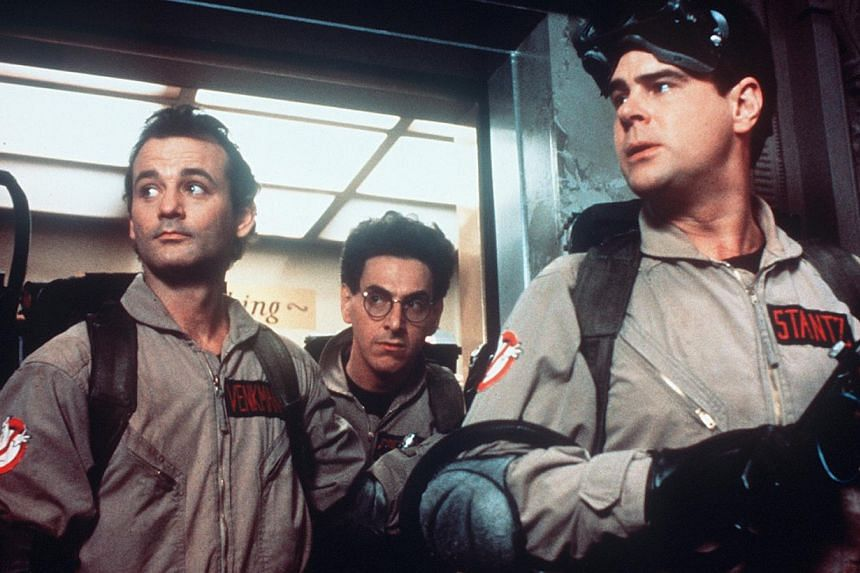 A cinema still from the original Ghostbusters starring (from left) Bill Murray, Harold Ramis and Dan Aykroyd. -- PHOTO: SCV