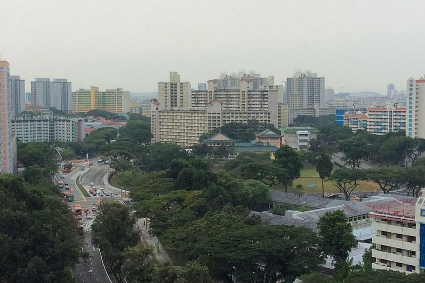 The view of Toa Payoh at 7.30am on Oct 9, 2014. -- ST PHOTO: NG SOR LUAN