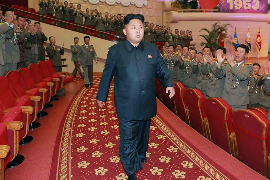 North Korean leader Kim Jong Un missed a key political anniversary event on Friday, extending a month-long absence that has fuelled rampant speculation about his physical health and political future. -- PHOTO: AFP/KCNA VIA KNS