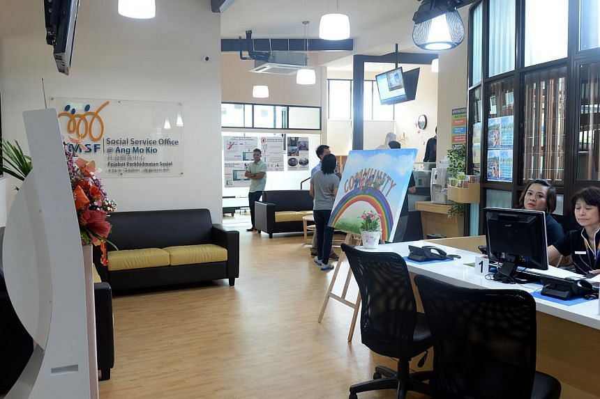 Ang Mo Kio residents in need of assistance can turn to a new social service office (SSO), which was officially opened on Friday. -- ST PHOTO: AZIZ HUSSIN