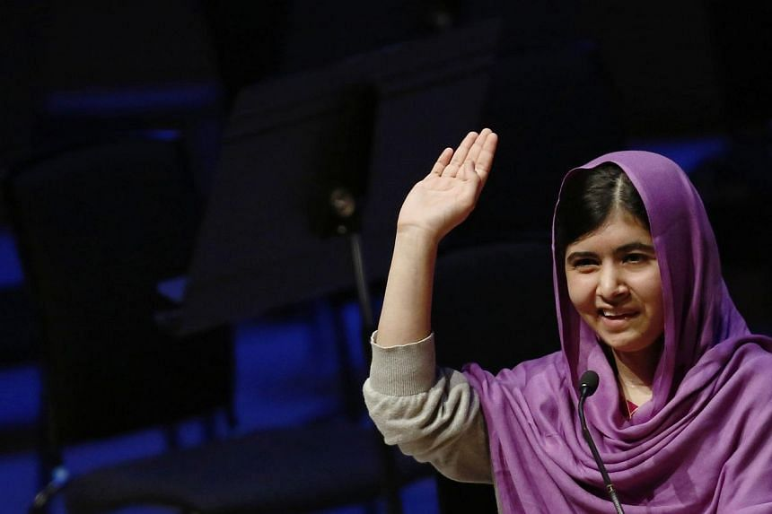 Pakistani schoolgirl activist Malala Yousafzai speaking during the Women of the World Festival (WOW) at the Southbank Centre in London on Aug 18, 2014. -- PHOTO: REUTERS