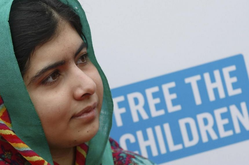 Malala Yousafzai arriving for the We Day UK event at Wembley Arena in London on March 7, 2014. -- PHOTO: REUTERS