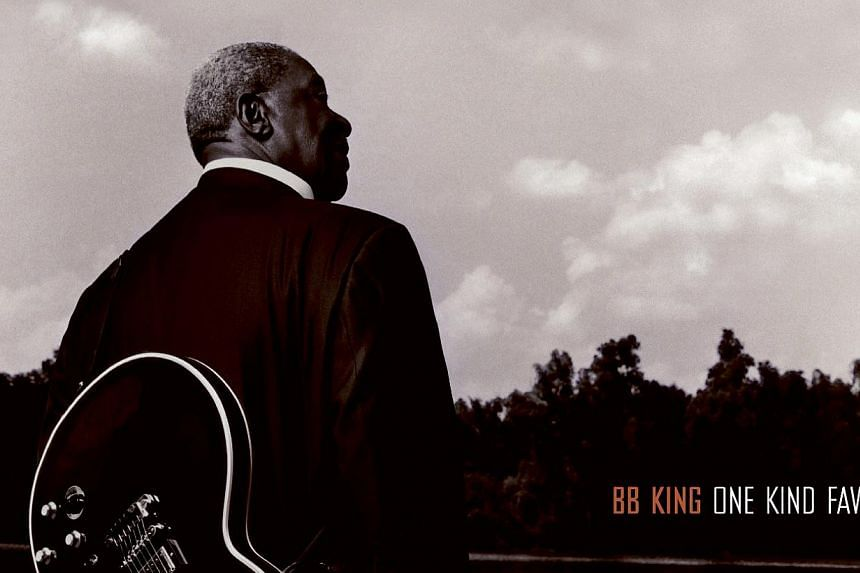 The CD cover for One Kind Favor by BB King. King, who has pursued an improbably rigorous touring schedule at age 89, has cancelled his remaining shows after suffering from exhaustion. -- PHOTO: UNIVERSAL STRATEGIC MARKETING