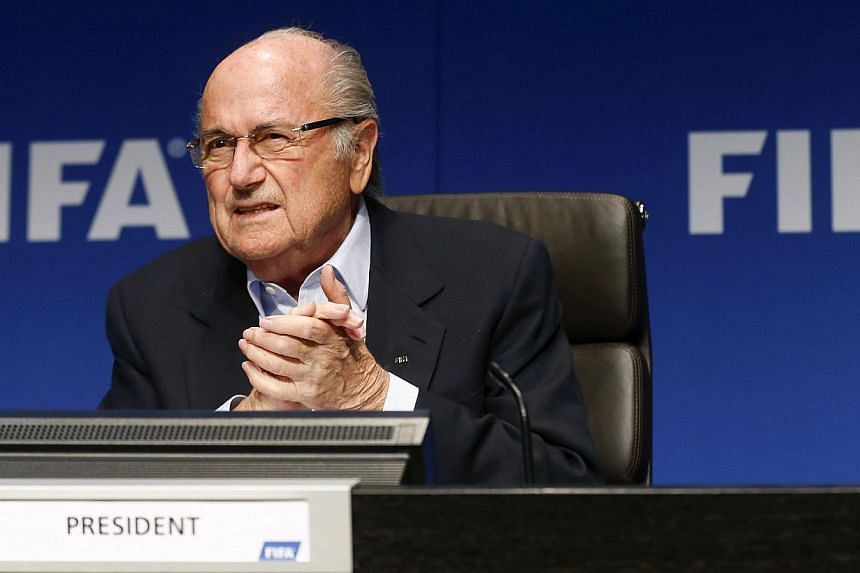 Fifa president Sepp Blatter on Friday called for an end to the away goals winner rule in clashes with two matches. -- PHOTO: AFP