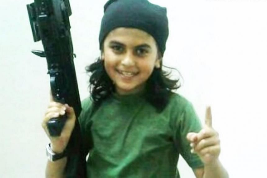 A screenshot from a YouTube video of Mohammad al-Absi Abu Obeida, dubbed the Cub of Baghdadi.A child from the United Arab Emirates (UAE) fighting with Islamic State in Syria was killed along with his father in a US-led coalition air strike, sup