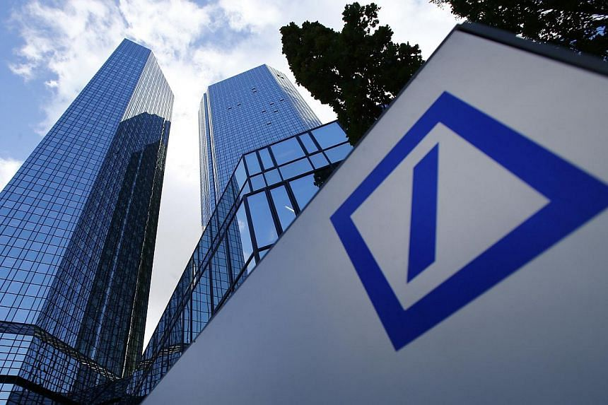 The headquarters of Deutsche Bank is pictured in Frankfurt in this Oct 29, 2013 file photo. Deutsche Bank's Swiss unit is participating in a US tax programme for banks that may have helped wealthy Americans evade taxes through hidden offshore ac